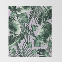 Tropical Jungle Leaves Dream #8 #tropical #decor #art #society6 Throw Blanket