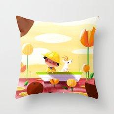 Golden Afternoon Throw Pillow