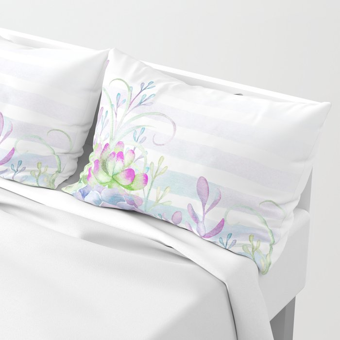 Summer Succulents Pillow Sham