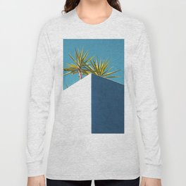 Cactus blue white Long Sleeve T-shirt