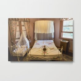 Old Bed Room, Netherby Homestead, Fagan Park Metal Print