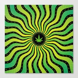 Marijuana energy | Sacred geometry mandala Canvas Print