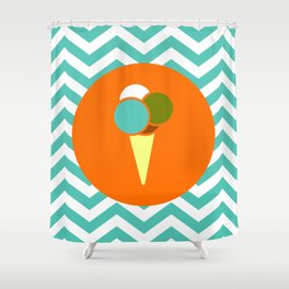 Ice Cream Cone - Cute Summer Accessories Collection Shower Curtain