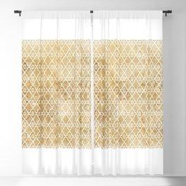Maize Trellis Pattern Blackout Curtain