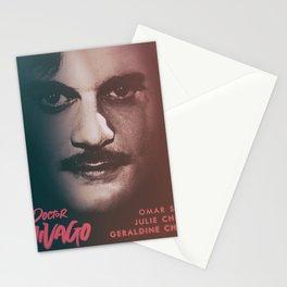 Doctor Zhivago, minimalist movie poster, David Lean film,Omar Sharif, Boris Pasternak, book cover Stationery Cards
