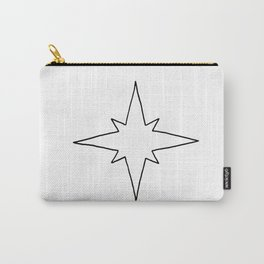 Black North Star Outline Carry-All Pouch
