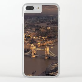 Thames Meander Cityscape Clear iPhone Case