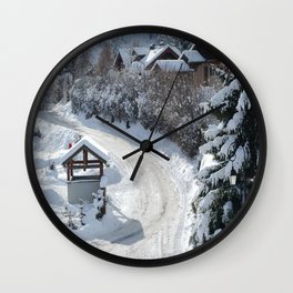 Alpine village Wall Clock