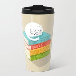 The Cat Loves Books Travel Mug