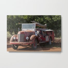 Antique Fire Truck Metal Print