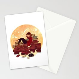 Book Lover Girl Stationery Cards