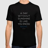 A Day Without Sunshine. MEDIUM Mens Fitted Tee Black