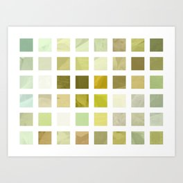 Pale Yellow Poinsettia 1 Abstract Rectangles 2 Art Print
