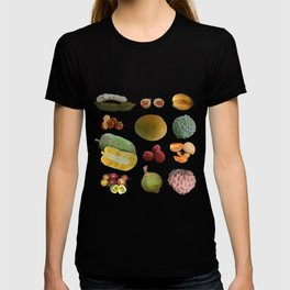Exotic Fruit Collage T-shirt