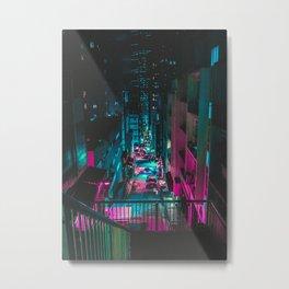 Neon Lights Hong Kong Metal Print
