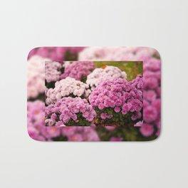 Many pink Dendranthema flowers Bath Mat