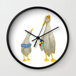 The ducks day out! Wall Clock