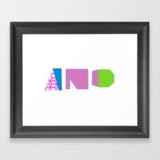 And. Framed Art Print