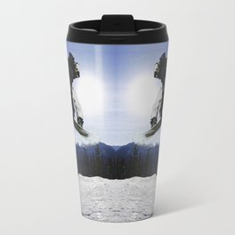 Born To Fly Snowboarder & Mountains Travel Mug