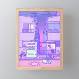 Pastel Tokyo Cats Framed Mini Art Print