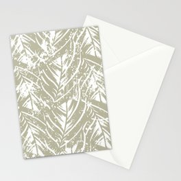 Jungle print with silhouette of paradise island foliage Stationery Cards