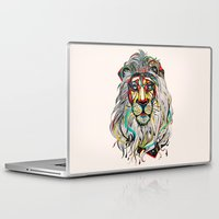 yellow Laptop & iPad Skins featuring Lion by Felicia Cirstea