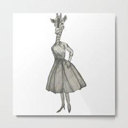 Just a Giraffe Gal  Metal Print