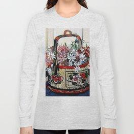 """Basket of Flannel Flowers"" by Margaret Preston Long Sleeve T-shirt"
