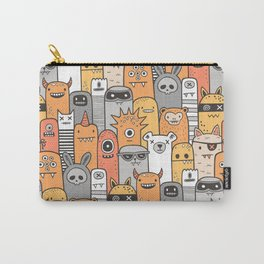Monsters & Friends in Orange Carry-All Pouch