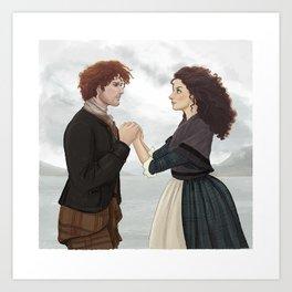 "Outlander ""The Frasers"" Art Print"