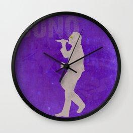 Bono - Rock Wall 3 of 16 Wall Clock