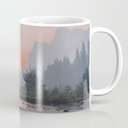 Yosemite Valley Sunrise Pretty Pink Coffee Mug