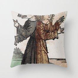 Wolf-Boy Throw Pillow