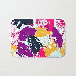 Trendy Multi Colored Paint Splash Pattern Bath Mat