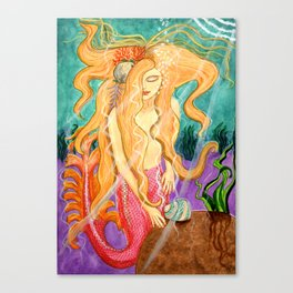 Mermaid Art - Sanibel Siren Canvas Print