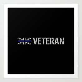 British Police Veteran Art Print