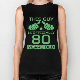 This Guy Is Officially 80 Years Old 80th Birthday Biker Tank
