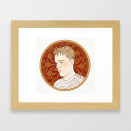 Alphonse Mucha style portrait Framed Art Print