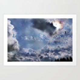 Swell sky Art Print
