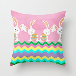Easter Chevron Pattern Throw Pillow