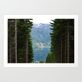 norwegian fjords Art Print