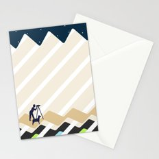 Stargazing by the River with a Dog Stationery Cards
