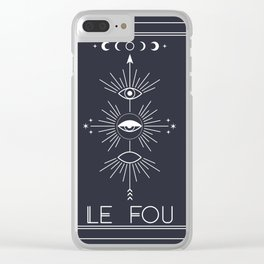 Le Fou or The Fool Tarot Clear iPhone Case