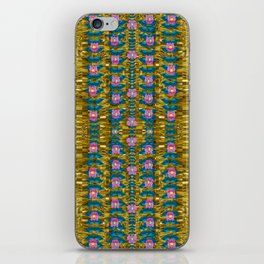 gold jungle and paradise liana flowers iPhone Skin