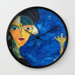 Indian Bride Wall Clock