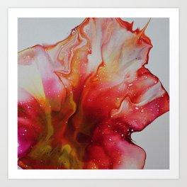 Abstract Magenta Flower Art Print