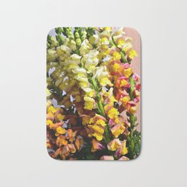 Snap Dragon Flowers / Milan -Italy Bath Mat