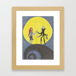 We can live like Jack & Sally if we want Framed Art Print