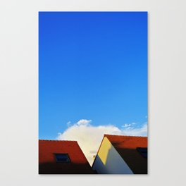 Primary Colours : Roof Canvas Print