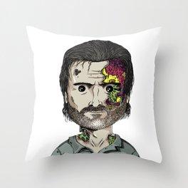 Rick Grimes The Walking Dead zombie portrait Throw Pillow